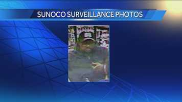 Police are also reviewing surveillance video that was recorded at a nearby Sunoco not long after the sisters were murdered to determine if the man in the photos and the neighbor in question are the same person.