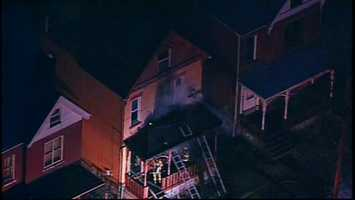 The fire on Ross Avenue in Wilkinsburg was reported shortly after 6 a.m.