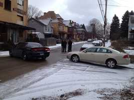 Allegheny County homicide detectives investigated a shooting on the 900 block of South Avenue in Wilkinsburg on Tuesday morning.