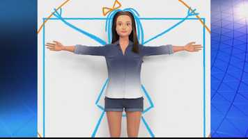 Nickolay Lamm says he used stats from the U.S. Centers for Disease Control and Prevention to create a 3-D computer image of a doll, based on what the government says are the normal proportions of an average 19-year-old woman. Then, he Photoshopped that image into a toy doll.