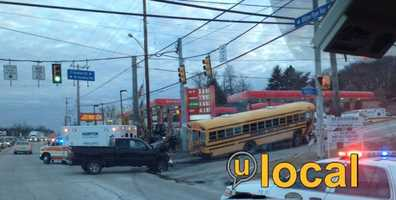 The crash happened near the intersection of Route 8 (William Flynn Highway) and East Hardies Road at about 7:40 a.m.