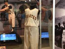 Other 1960 Pirates items on display include the pitching rubber and first base from Game 7&#x3B; a jersey worn by that year's National League MVP, Dick Groat&#x3B; and a life-like museum figure of Mazeroski hitting his legendary home run.