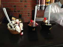 New ice cream sundaes served in miniature batting helmets are on the menu at PNC Park this year.