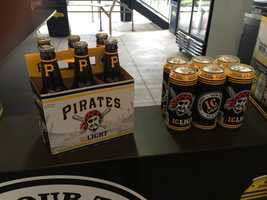 Pirates-branded I.C. Light beer