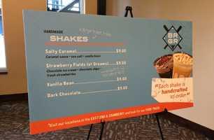 BRGR shakes menu