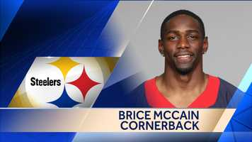 Former Texans cornerback  Brice McCain signed a one-year contract to join the Steelers.