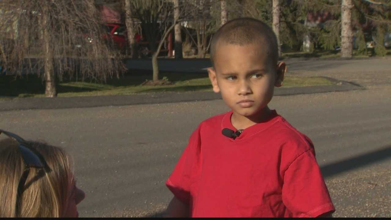 Julius Harvey, 6, recovering from dog attack