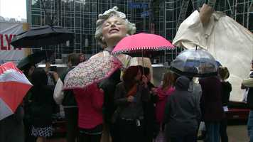 """""""Forever Marilyn"""" is the work of artist Seward Johnson."""