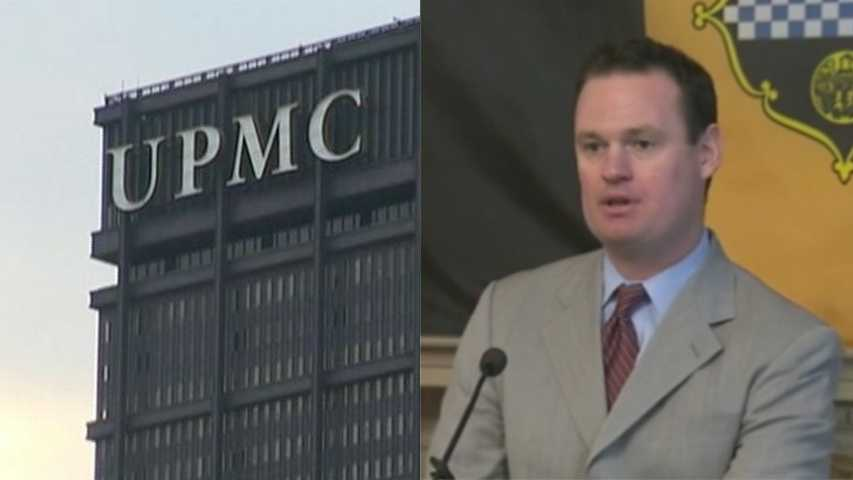 UPMC-Luke Ravenstahl split screen