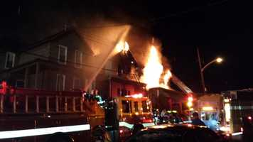 A house fire in Duquesne spread to two neighboring homes Wednesday morning.