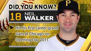 Hit his first career grand slam at Chicago on Opening Day 2011