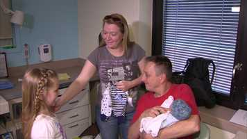 Her successful mission allowed her to deliver nearly 600 pieces of baby clothing to West Penn Hospital.