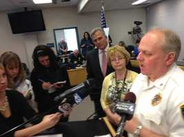Monroeville Police Chief Doug Cole talks about the gun that a student brought to Ramsey Elementary School.