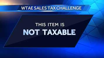 This item is not taxable. Click here for more information.