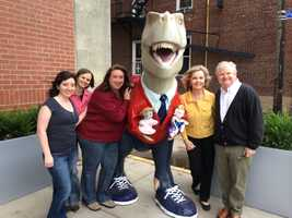 """The Fred-O-Saurus Rex, named after """"Mister Rogers"""" star Fred Rogers, now has a new home on the South Side."""