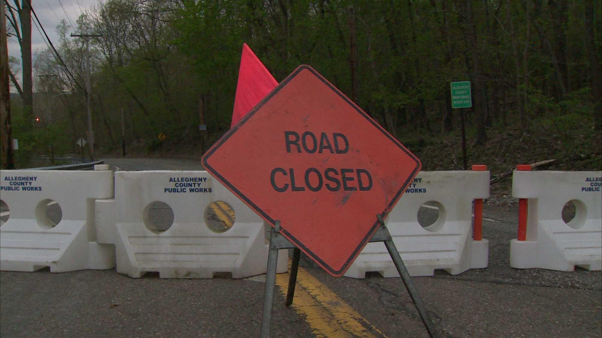 Nadine Road closed