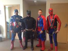 Everyone's favorite friendly superheroes are back once again to give the kids a surprise at Children's Hospital of Pittsburgh of UPMC on Tuesday morning.