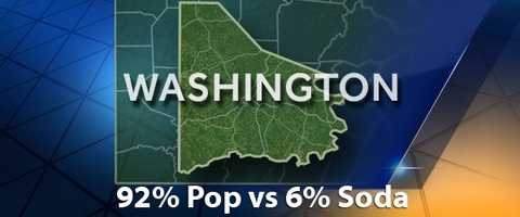 According to PopvsSoda.com survey, Washington County is 92% Pop vs 6% Soda