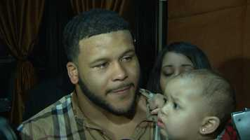 Aaron Donald said he tried to hold back the tears but just couldn't after getting the phone call from the St. Louis Rams during the NFL Draft. (Click here to watch video)