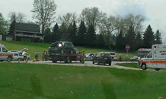 The multivehicle crash happened near the 380 Auction and Discount Warehouse. A witness shared this photo on u local.