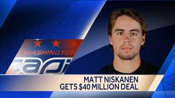 The Capitals inked defenseman Matt Niskanen to a seven-year deal worth $40.25 million.