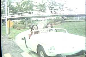 Riding on the Turnpike at Kennywood in the 1960s.