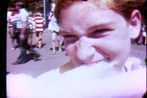 Eating cotton candy at Kennywood Park in 1972.