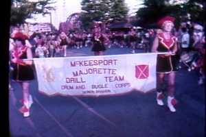 The McKeesport Majorette Drill Team at Kennywood Park in 1979.