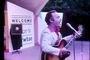 Joe Negri performs on stage at WTAE Day at Kennywood Park in 1979.