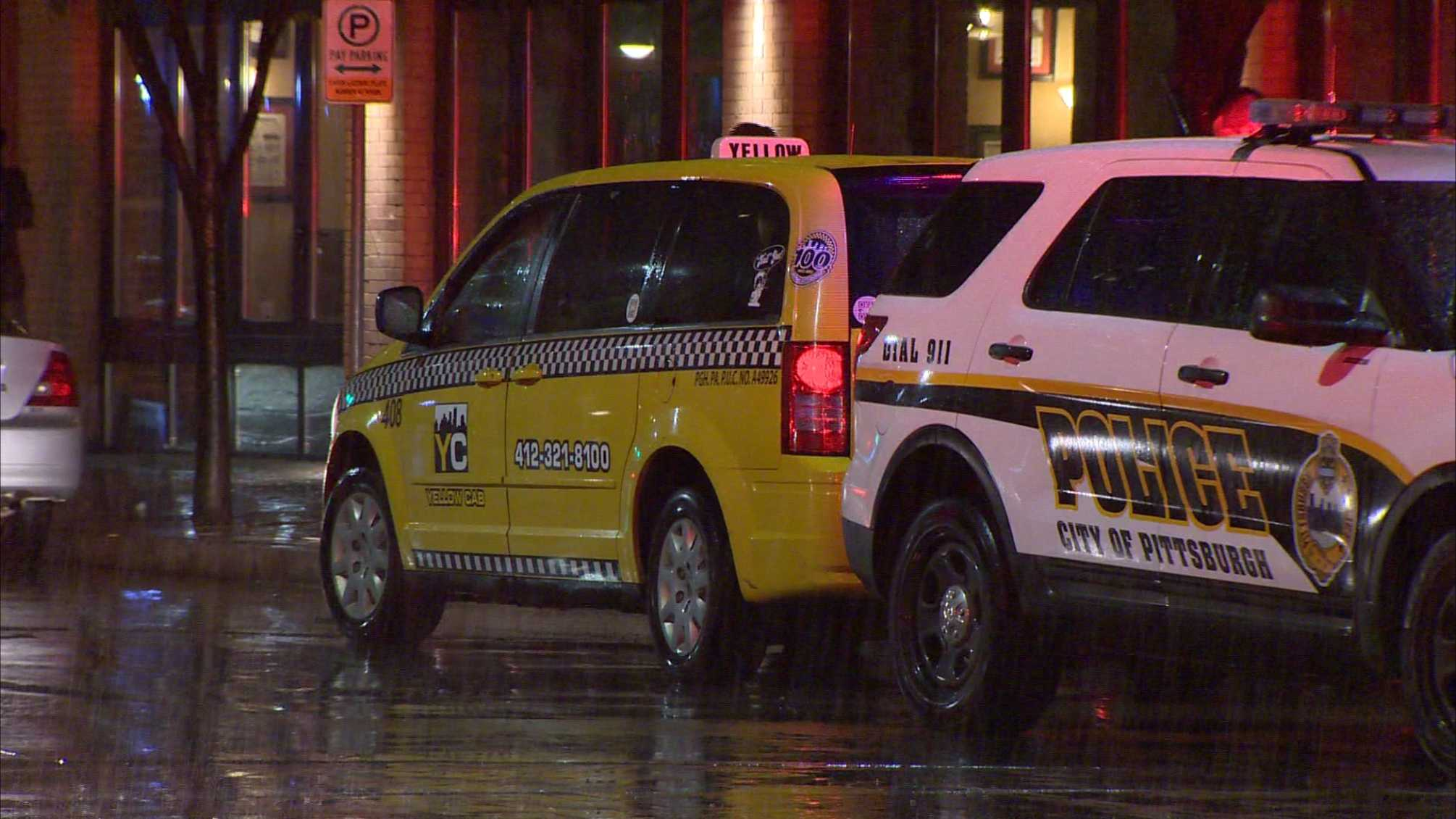 Person struck by cab