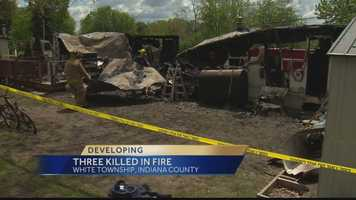 The Indiana County coroner's office said 28-year-old Shawn Marsh, 27-year-old Nicole Novak and 9-year-old Gabbriella Novak were killed in a fire in White Township early Sunday morning.