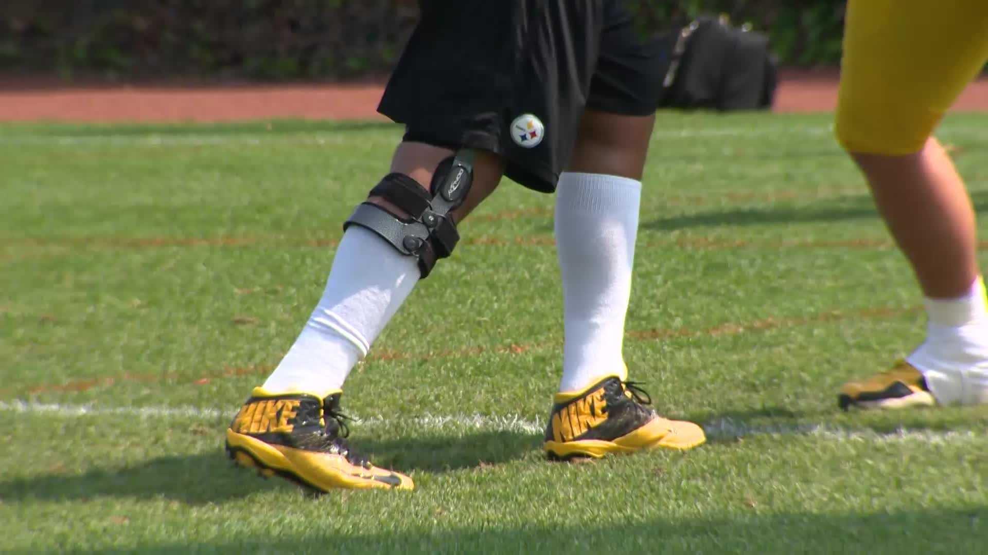 Maurkice Pouncey knee brace