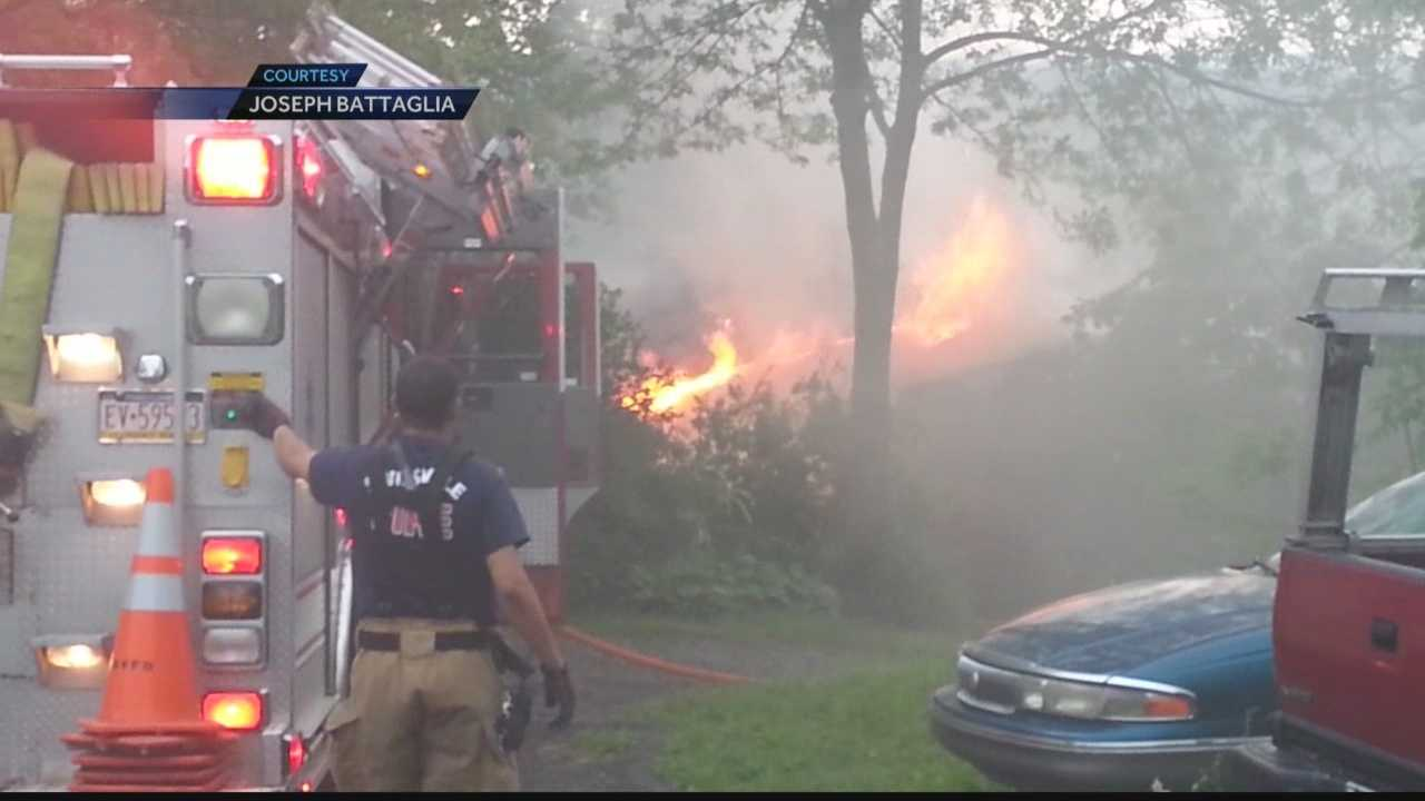 Severe storms cause some flooding&#x3B; lightning strikes homes
