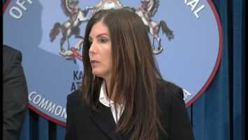 Attorney General Kathleen Kane's office said there was a six-month investigation with the Westmoreland County Drug Task Force into the distribution of heroin, marijuana and prescription drugs throughout the county. She says there were undercover purchases and controlled buys -- mostly heroin and prescription drugs like Xanax, oxycodone and methadone.