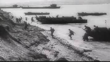 On D-Day the young sergeant was crammed into an LST boat headed for the French coastline, scared as hell.