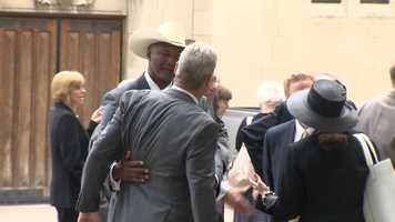 NFL Commissioner Roger Goodell was in attendance, as were former Steelers greats John Stallworth, Franco Harris and Mel Blount, along with the Rooney family.