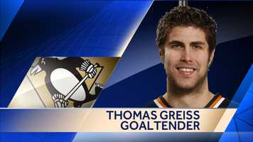 The Penguins signed goalie Thomas Greiss to a one-year deal worth $1 million.