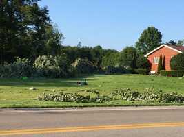 The National Weather Service says a tornado packing 90 mph winds touched down Tuesday afternoon in Mercer County and traveled 2½ miles, downing trees.
