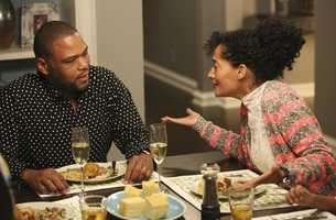 "ABC's new family comedy, ""black-ish,"" takes a fun yet bold look at one man's determination to establish a sense of cultural identity for his family. The series stars Anthony Anderson, Tracee Ellis Ross and special guest star Laurence Fishburne. (ABC/Adam Taylor)"