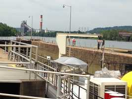 Pittsburgh's Action News 4 took a tour of the dewatered Locks and Dam No. 3 on the Monongahela River in Elizabeth.