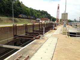 Locks and Dam No. 3 is one of nine navigation structures that provide for year-round navigation on the Monongahela River between Pittsburgh and Fairmont, W.Va..