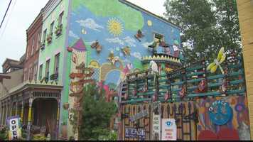 Randyland started almost 20 years ago. The area was blighted at the time, and Randy Gilson began sprucing it up, planting hundreds of flower and vegetable gardens in vacant lots and offering his courtyard for free to anyone who wanted to use it.