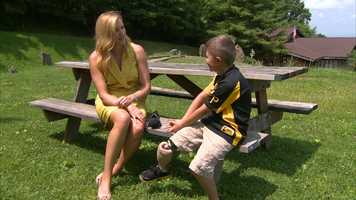 Pittsburgh's Action News 4's Shannon Perrine with Gage Beavers