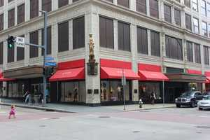 Twenty years later, here's how that same corner looks today. Kaufmann's is long gone, replaced by Macy's.