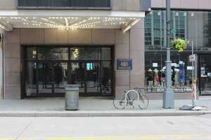 Also gone are the many popular retailers, including Waldenbooks and the Sam Goody music store, which was accessible via the main lobby and a separate street entrance (pictured, far right).