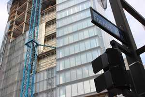 Work on the Tower at PNC Plaza is progressing quickly. Located catercorner from One PNC Plaza, it will occupy the entire block of Wood Street between Fifth and Forbes avenues.