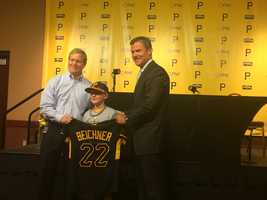 Matthew chose No. 22 in honor of his favorite player, Pirates All-Star Andrew McCutchen.