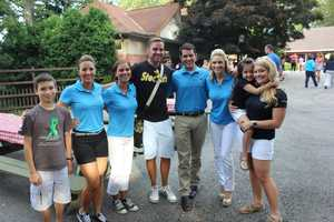 Getting ready for the start of the WTAE Summerfest Parade at Kennywood Park are Pittsburgh Action News' Ashley Dougherty, Marcie Cipriani, Pittsburgh Dad, Matt Belanger, Jackie Schafer, and Ashlie Hardway.