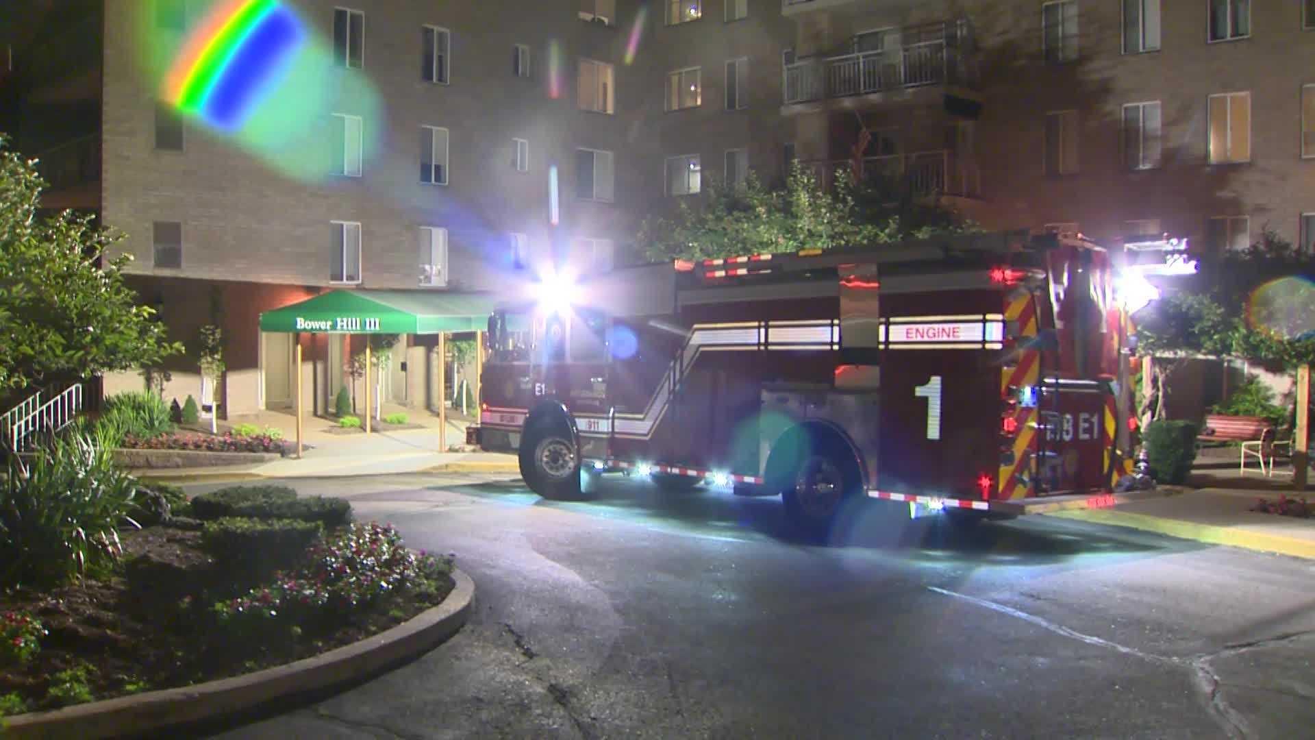 fire truck at Bowel Hill Apartments