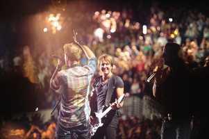 "FLORIDA GEORGIA LINE, KEITH URBAN -- CMA MUSIC FESTIVAL: COUNTRY'S NIGHT TO ROCK - The ABC Television Network airs ""CMA Music Festival: Country's Night to Rock"" on TUESDAY, AUGUST 5 (8:00-11:00 PM/ET). (ABC/Derek Martinez)"